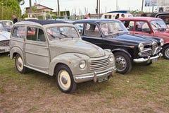 Klassieke Italiaanse auto Fiat Topolino 500 c-Belvedere van de jaren '50 Royalty-vrije Stock Fotografie