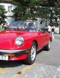 Klassieke Italiaanse convertibele auto, Alpha- Romeo Spider Royalty-vrije Stock Afbeeldingen