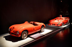 Klassieke Italiaanse raceauto's in Museo dell'Automobile Nazionale Stock Afbeeldingen