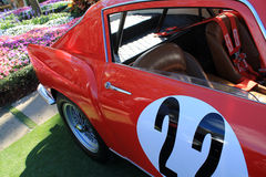 Klassieke jaren '50 Italiaanse raceauto royalty-vrije stock foto