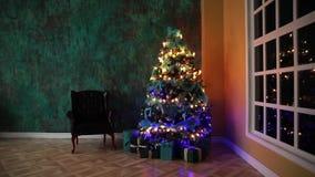 Klassieke Kerstmisachtergrond stock video