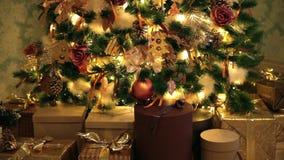 Klassieke Kerstmisachtergrond stock footage