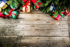 Klassieke Kerstmisachtergrond stock afbeelding