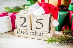 Klassieke Kerstmisachtergrond royalty-vrije stock foto's