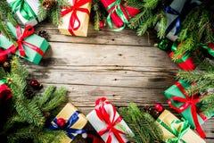 Klassieke Kerstmisachtergrond stock afbeeldingen