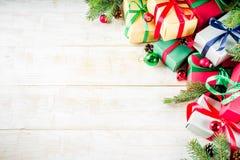 Klassieke Kerstmisachtergrond royalty-vrije stock afbeeldingen