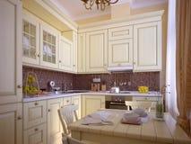 Klassieke keuken stock illustratie