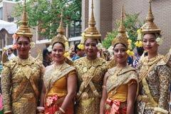 Klassieke Khmer Cambodjaanse Dansers Stock Foto