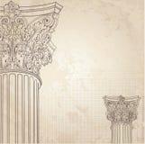Klassieke kolommenachtergrond Roman Corinthische kolom IL Stock Fotografie