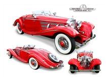Klassieke Mercedes-Benz Special-geïsoleerd Roadster- royalty-vrije stock afbeeldingen