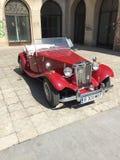 Klassieke MG-sportwagen Royalty-vrije Stock Afbeeldingen