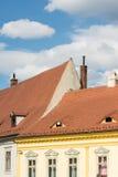 Klassieke Middeleeuwse Huizen Stock Afbeeldingen