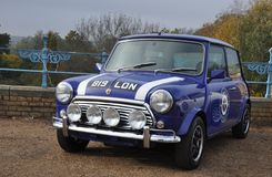 Klassieke Mini Cooper Sports-auto royalty-vrije stock foto