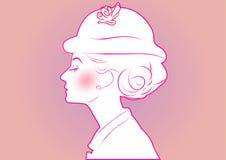 Klassieke mooie vrouw Royalty-vrije Stock Fotografie