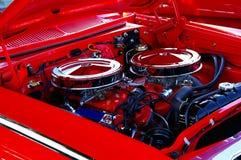 Klassieke motor van een auto Stock Foto's