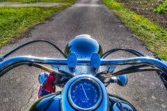 Klassieke motorfiets in hdr Stock Afbeeldingen
