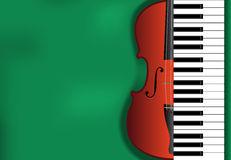 Klassieke muziekachtergrond Stock Fotografie