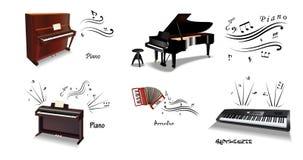 Klassieke muziekinstrumenten Stock Afbeeldingen
