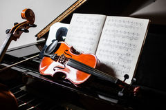 Klassieke muziekscène Stock Afbeelding