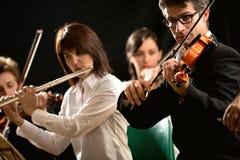 Klassieke muziekuitvoerders Stock Foto's