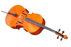 Klassieke muzikale die instrumentencello op witte achtergrond wordt geïsoleerd Stock Foto