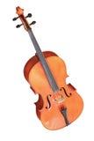 Klassieke muzikale die instrumentencello op witte achtergrond wordt geïsoleerd Stock Foto's