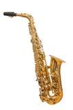 Klassieke muzikale instrumentensaxofoon Stock Foto