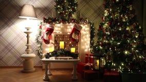 Klassieke nieuwe jaar en Kerstmisachtergrond stock footage