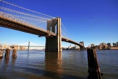 Klassieke NY - de brug van Brooklyn Royalty-vrije Stock Fotografie