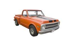Klassieke oranje pick-up Royalty-vrije Stock Foto's