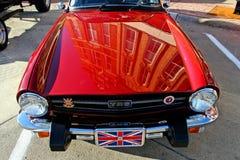 Klassieke oude MG-auto dichte omhooggaand royalty-vrije stock afbeelding