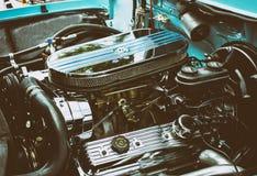 Klassieke Oude vrachtwagenmotor Stock Afbeelding