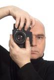 Klassieke photoshoot van de Camera van de fotograaf Royalty-vrije Stock Foto
