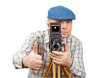 Klassieke photoshoot van de Camera van de fotograaf Royalty-vrije Stock Afbeeldingen