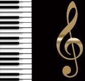 Klassieke pianoachtergrond Stock Foto