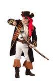 Klassieke piraat die zwaard te voorschijn haalt Stock Foto