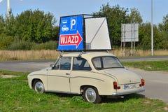 Klassieke Poolse auto Syrena 105 Stock Afbeelding