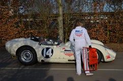 Klassieke raceauto bij het 72ste GRRC-leden samenkomen stock foto
