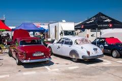 Klassieke raceauto's Royalty-vrije Stock Fotografie