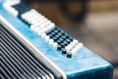 Klassieke retro bayan harmonika, muzikaal instrument royalty-vrije stock foto's