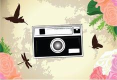 Klassieke, Retro en Uitstekende Camera Vectorillustratie Als achtergrond Royalty-vrije Stock Fotografie
