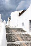 Klassieke Santorini-scène, Griekenland Royalty-vrije Stock Afbeeldingen