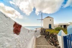Klassieke Santorini-scène, Griekenland Stock Afbeelding