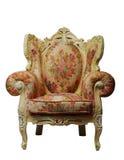 Klassieke stoel met het knippen van weg Stock Foto's