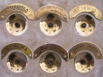 Klassieke telefoons in Venetië Stock Foto