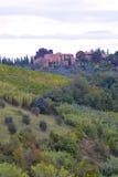 Klassieke Toscaanse Boerderij Stock Afbeelding