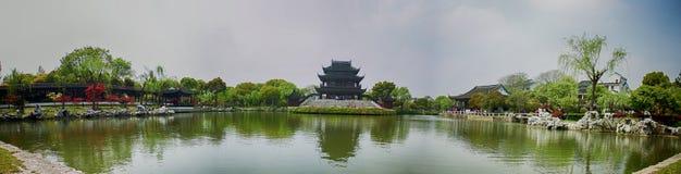 Klassieke Tuinen van Suzhou, Reis aan China stock afbeeldingen