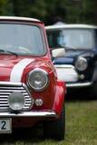 Klassieke Twee Auto's Mini Stock Foto's