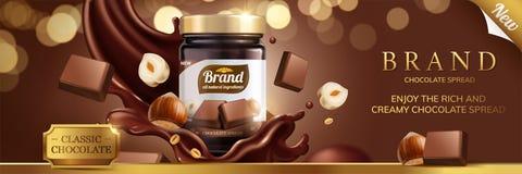 Klassieke uitgespreide chocolade royalty-vrije illustratie