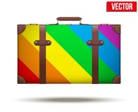 Klassieke uitstekende bagagekoffer voor reis binnen Stock Afbeelding